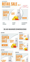 Multipurpose Retail Sale Ad Banners-Vol2 by webduckdesign