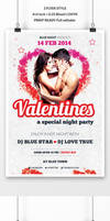 Valentine's Day Party Flyer by webduckdesign