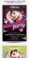 Valentines Party Flyer by webduckdesign