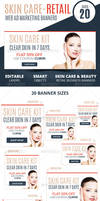 Skin Care Retail Web Ad Marketing Banners by webduckdesign
