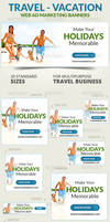 Travel - Vacation Web Ad Marketing Banners Vol 2 by webduckdesign