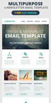 Multipurpose E-Newsletter Email Template by webduckdesign