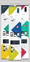 GeekApp - One Page App Landing PSD Template by webduckdesign