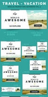Travel - Vacation Web Ad Marketing Banners Vol 4 by webduckdesign