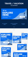 Travel Ad Banner / Vacation Ad Banner by webduckdesign
