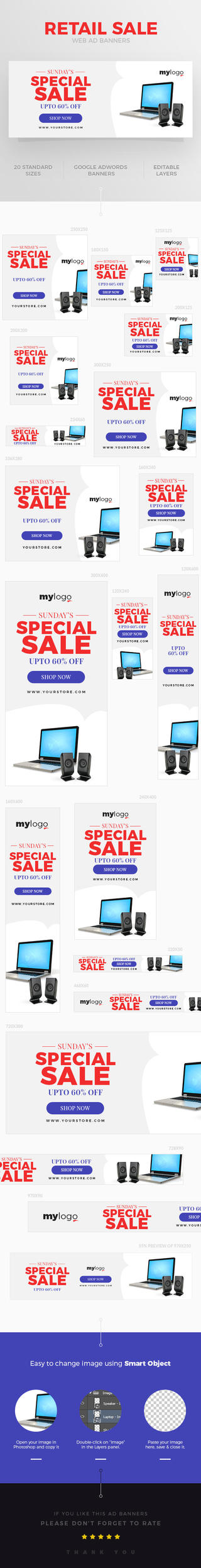 Retail Sale Web Ad Banner by webduckdesign