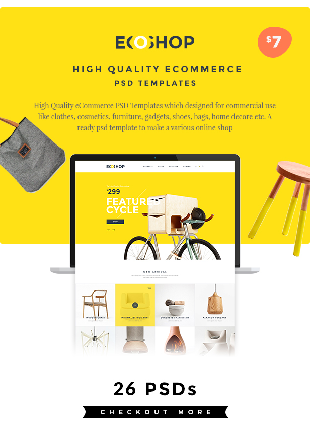 ECOSHOP - Multipurpose eCommerce PSD Template by webduckdesign