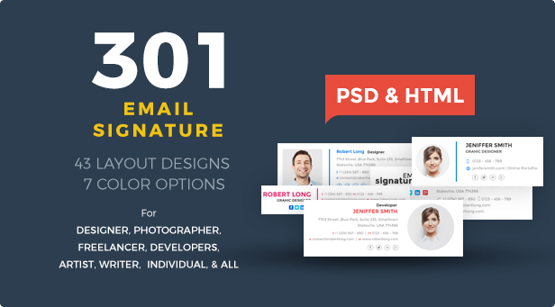 Email Signatures HTML by webduckdesign