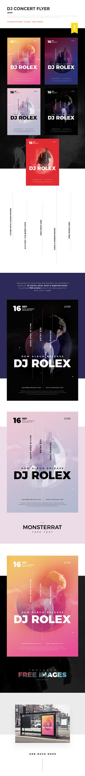 DJ Concert Flyer / DJ Poster by webduckdesign