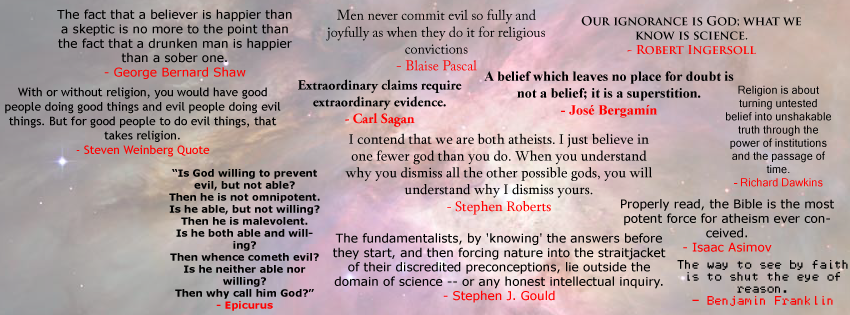 My Atheist Quote Facebook Cover by TheFake
