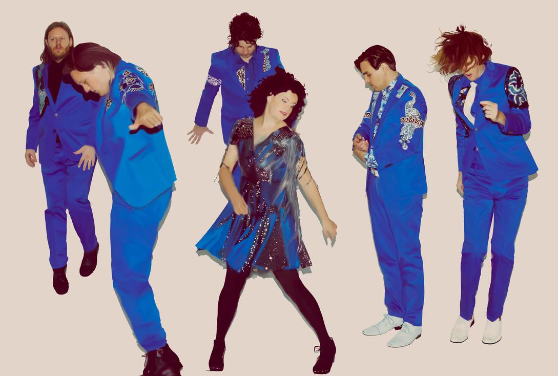 Arcade Fire in Blue by BipolarAquarium