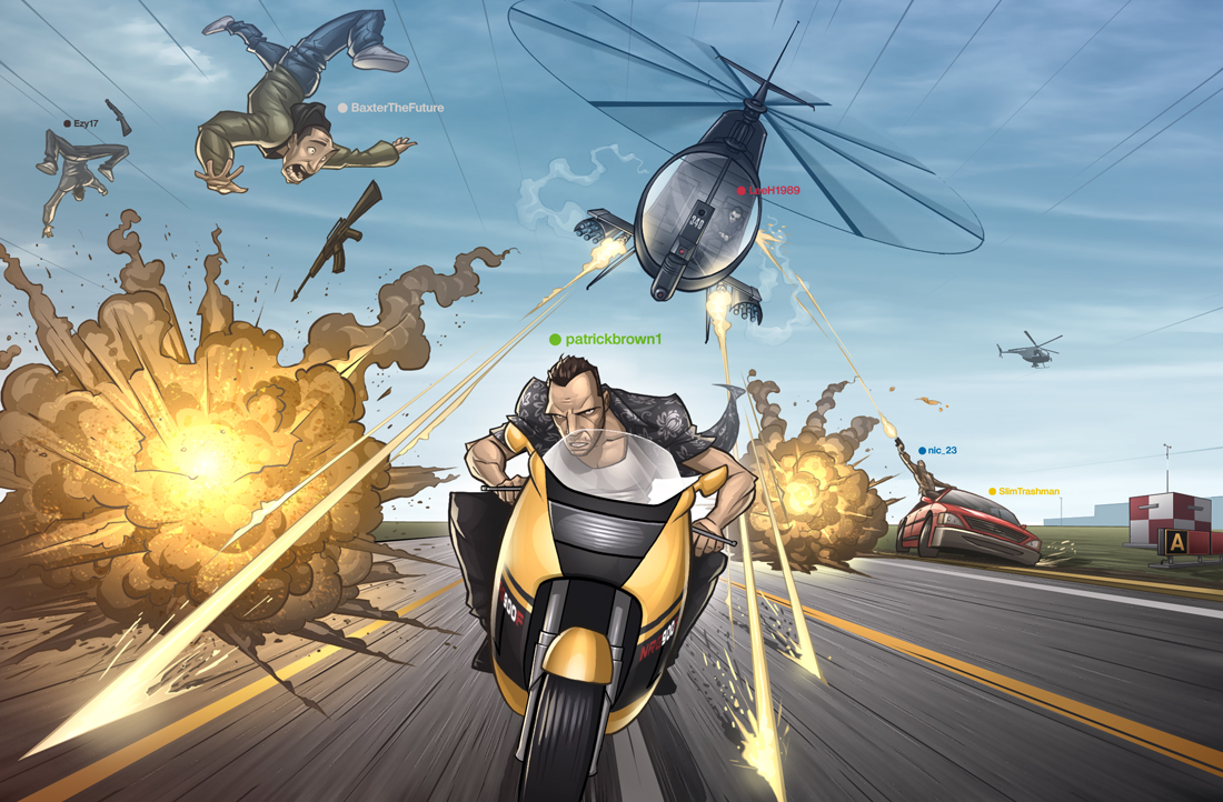 GTA IV COMIC teaser by PatrickBrown