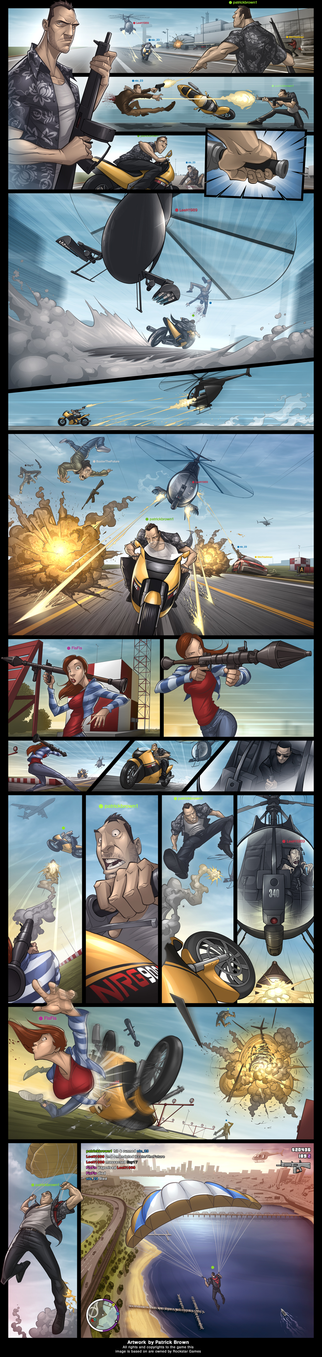 GTA IV COMIC by PatrickBrown
