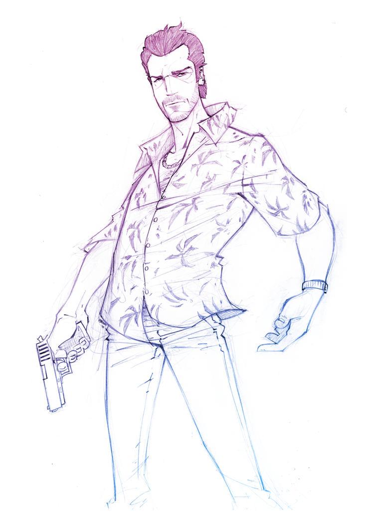 Vercetti Sketch by PatrickBrown