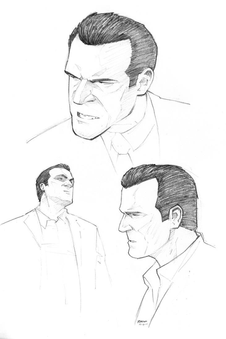 Grand Theft Auto V sketch by PatrickBrown