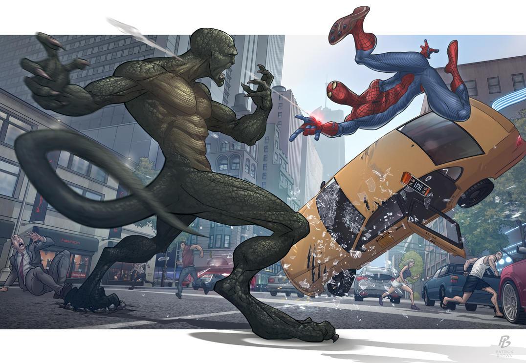 Wonderful Wallpaper Marvel Lizard - the_amazing_spider_man_by_patrickbrown-d4retyr  Pictures_946293.jpg