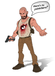 Max Payne 3 cartoon by PatrickBrown