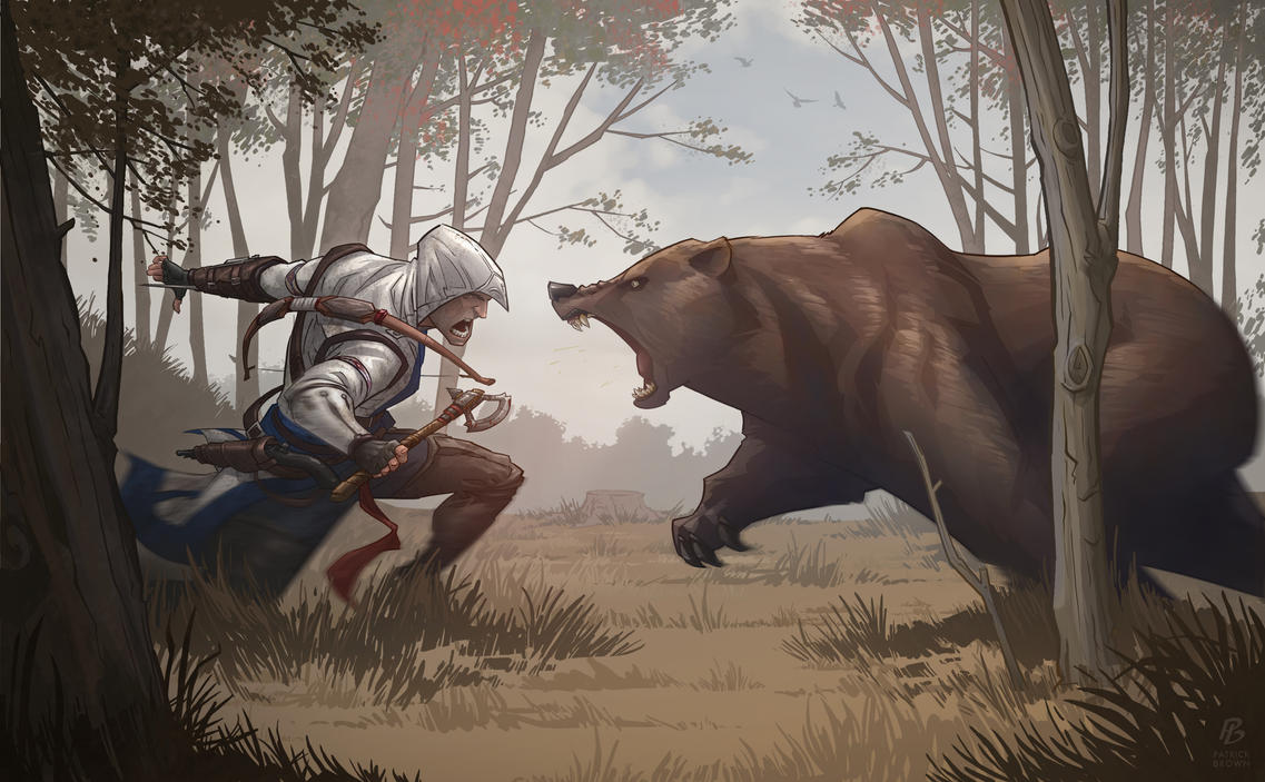Assassin's Creed 3 Bear Attack by PatrickBrown