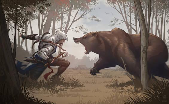 Assassin's Creed 3 Bear Attack