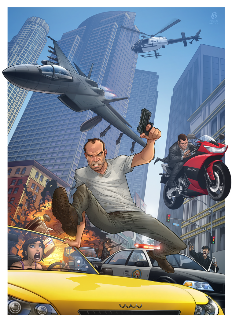 Grand Theft Auto V by PatrickBrown