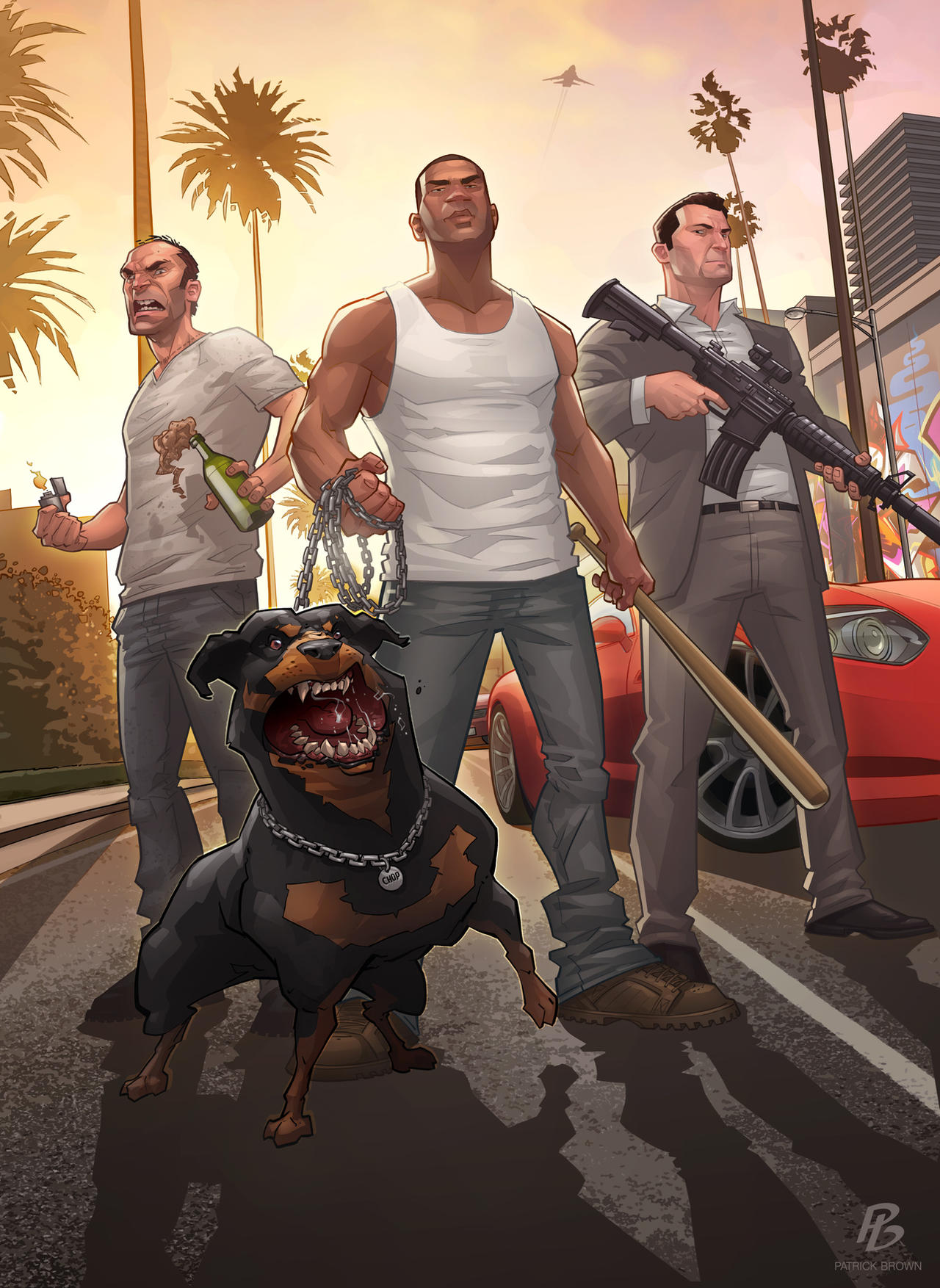 Grand Theft Auto 5 Fan Art Illustrations: Wacky and Awesome  Grand Theft Aut...