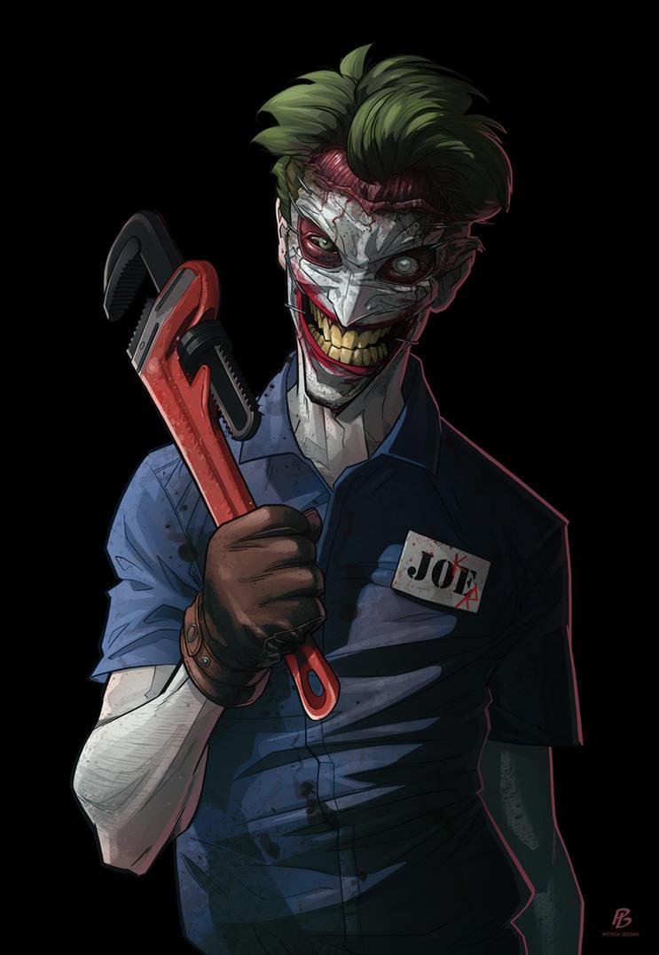 http://th00.deviantart.net/fs71/PRE/f/2013/308/a/0/joker52_by_patrickbrown-d6t3swk.jpg Comic Joker Painting