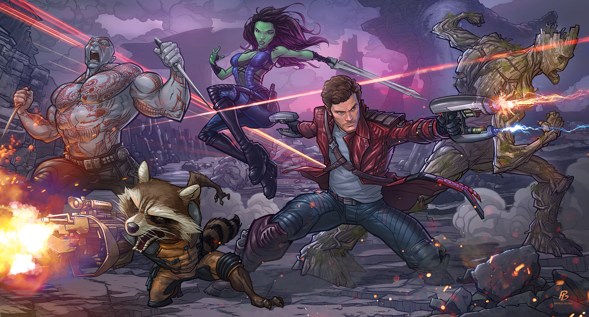 Guardians of the Galaxy by P. Brown