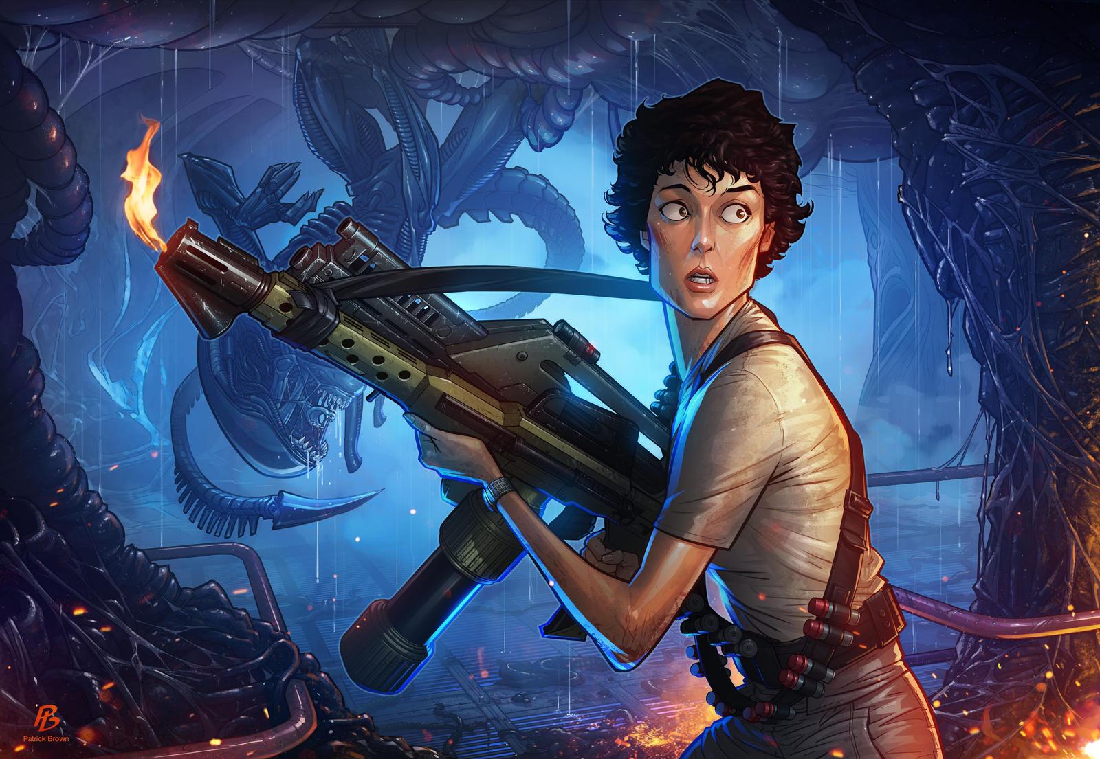 Aliens by PatrickBrown