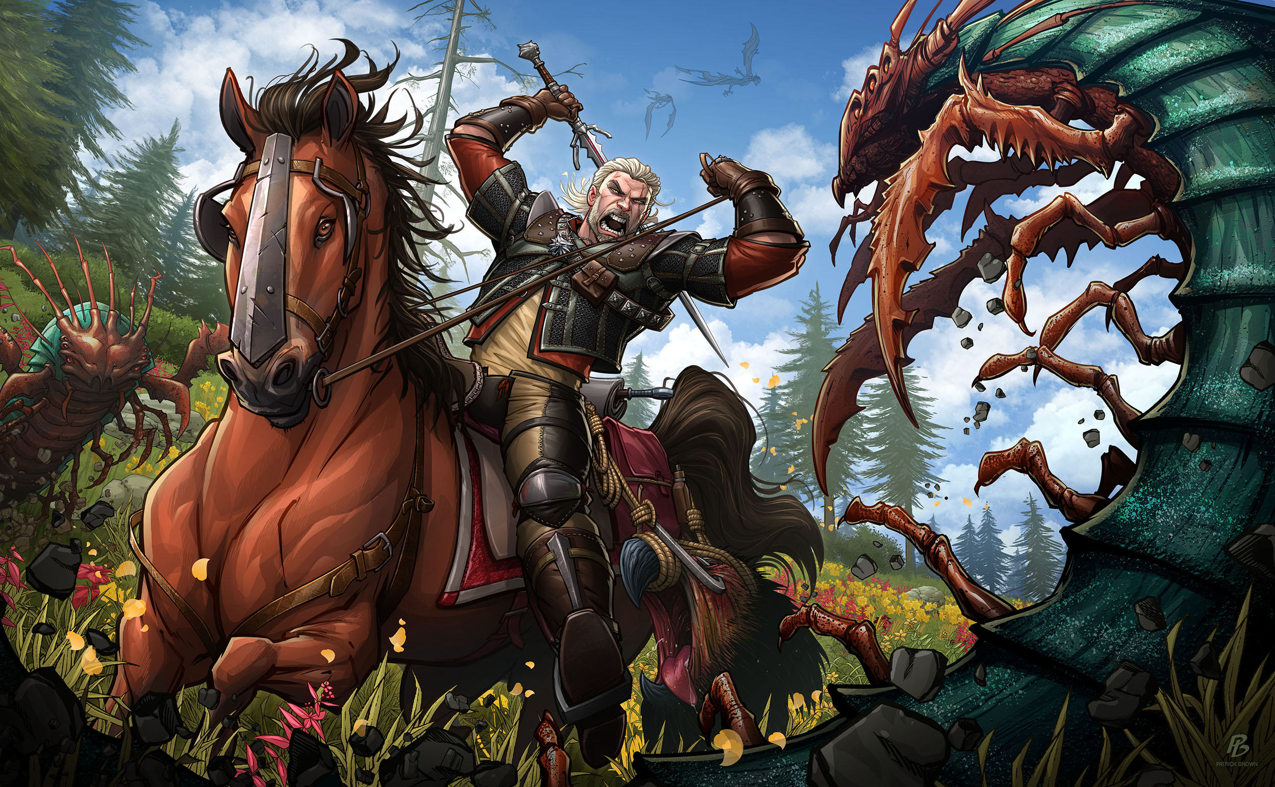 The Witcher Wild Hunt Blood And Wine By Patrickbrown On Deviantart