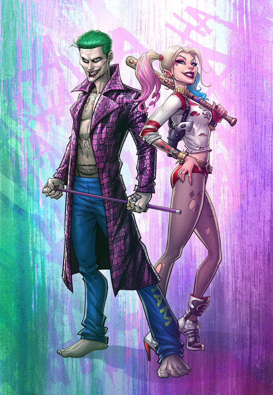 The Joker And Harley Quinn By Patrickbrown On Deviantart