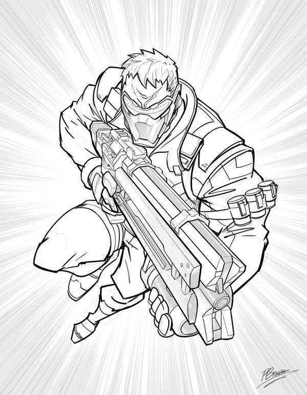 Soldier 76 overwatch by patrickbrown on deviantart for Overwatch coloring pages