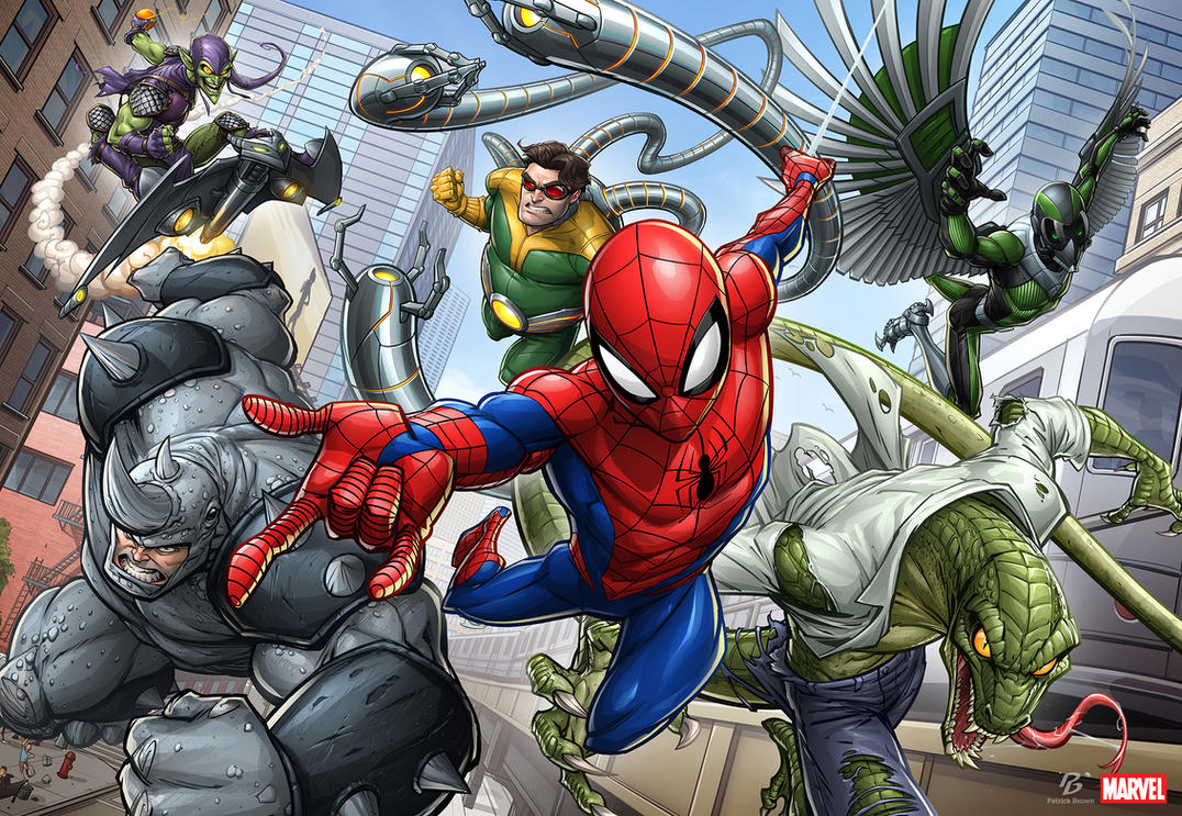 "[Animación] ""Marvel's Spider-Man"" Spider_man_chase_by_patrickbrown-db8isc2"