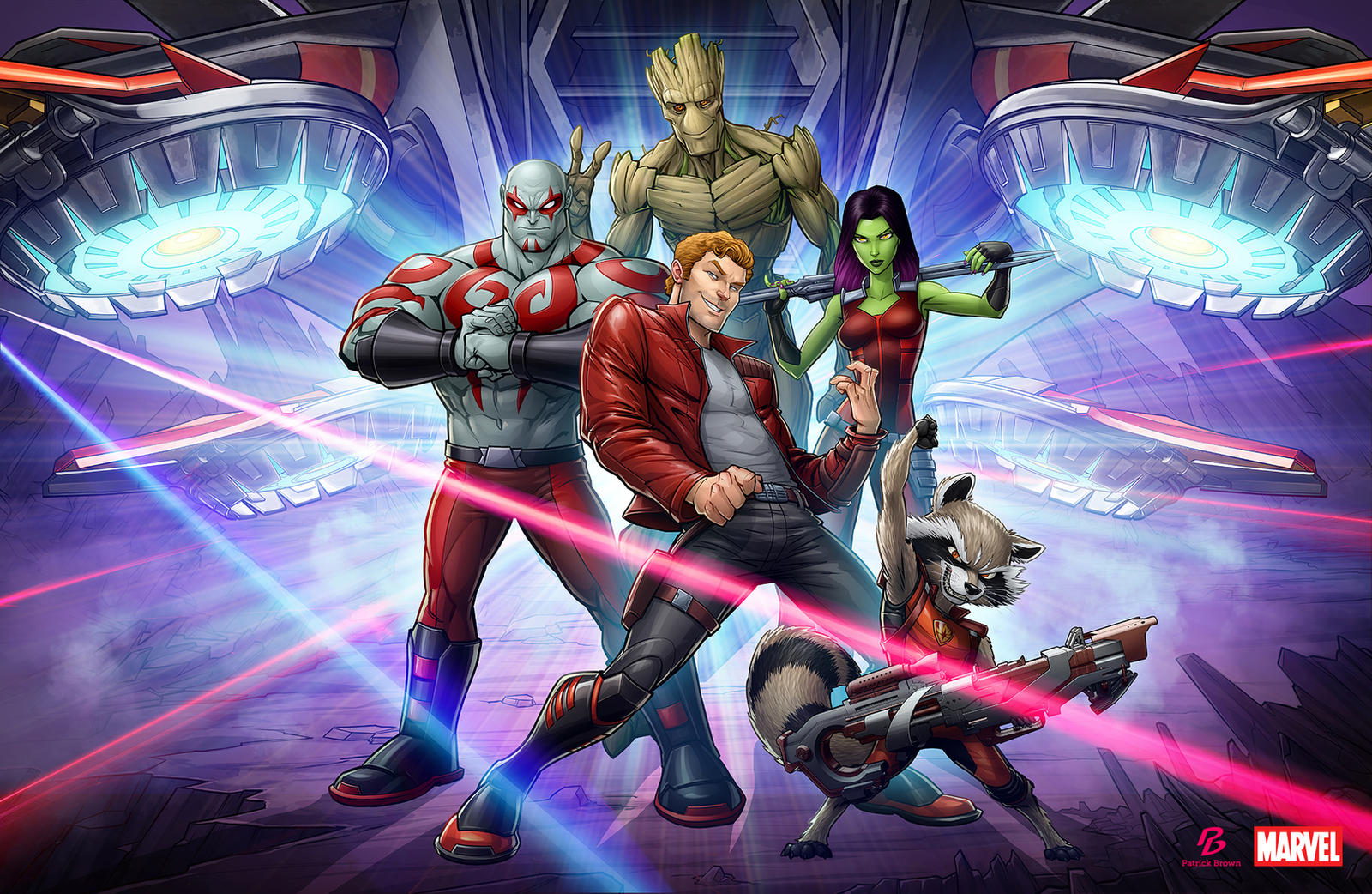 Guardians of the Galaxy by PatrickBrown