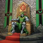 Dr Doom on the Throne
