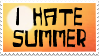 I Hate Summer Stamp by Skarlet-Raven