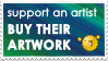 Support an Artist Stamp by Skarlet-Raven