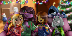 Merry Christmas, Asriel!! Deltarune fan art by azuii-chann