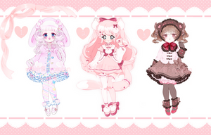 [CLOSED] Valentines Day Collab Adoptables by rosybun