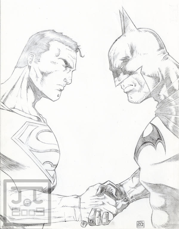 Superman Vs Batman Sketch2009 By Barfast On DeviantArt