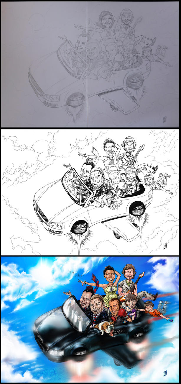 CARICATURE COMMISSION STEP BY STEP 2012 by barfast