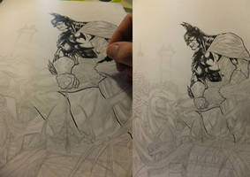 Batman inks in process 2012.2 by barfast