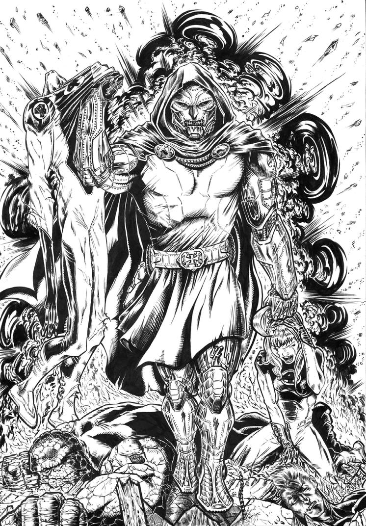DOCTOR DOOM Inks 2015 by barfast