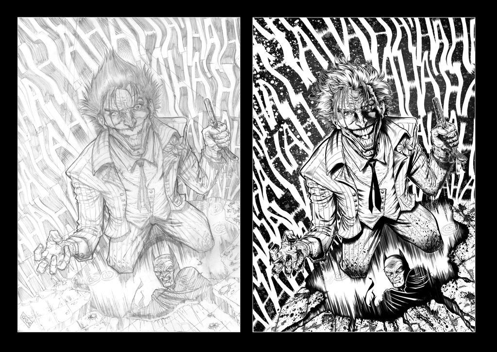 Joker Pencils vs. Inks 2017 by barfast
