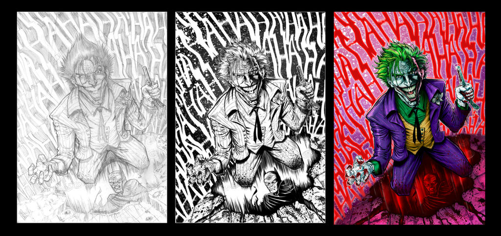 Joker 2017 Pencils-Inks-Colors by barfast