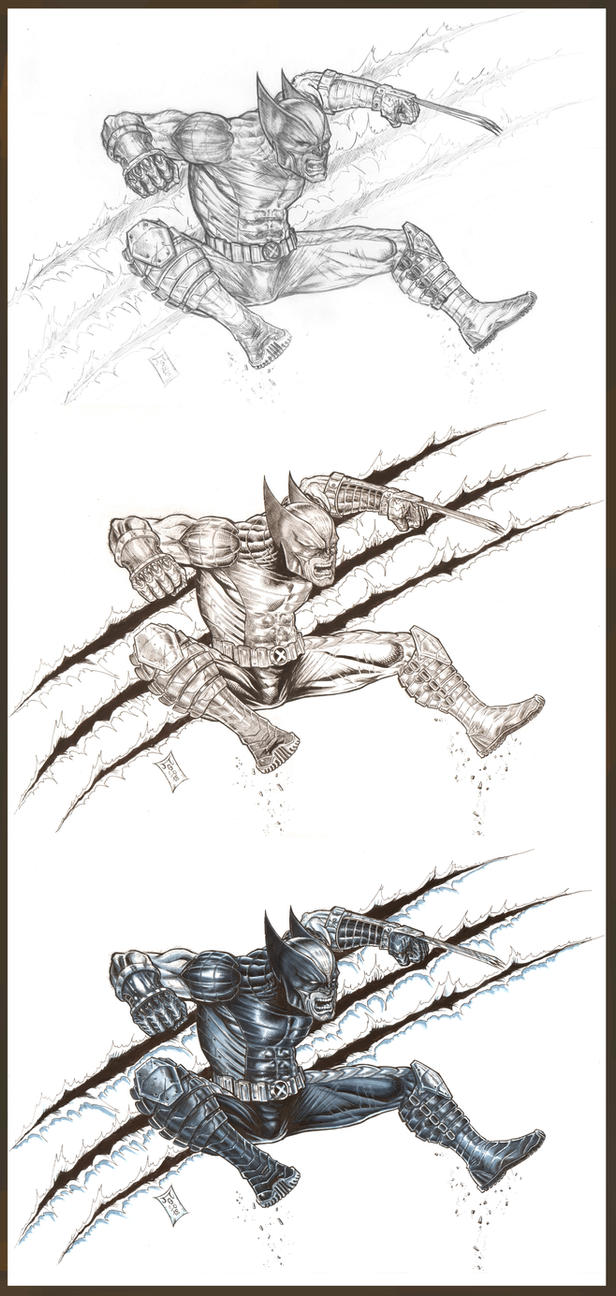 Wolverine X-force Steps 2018 by barfast
