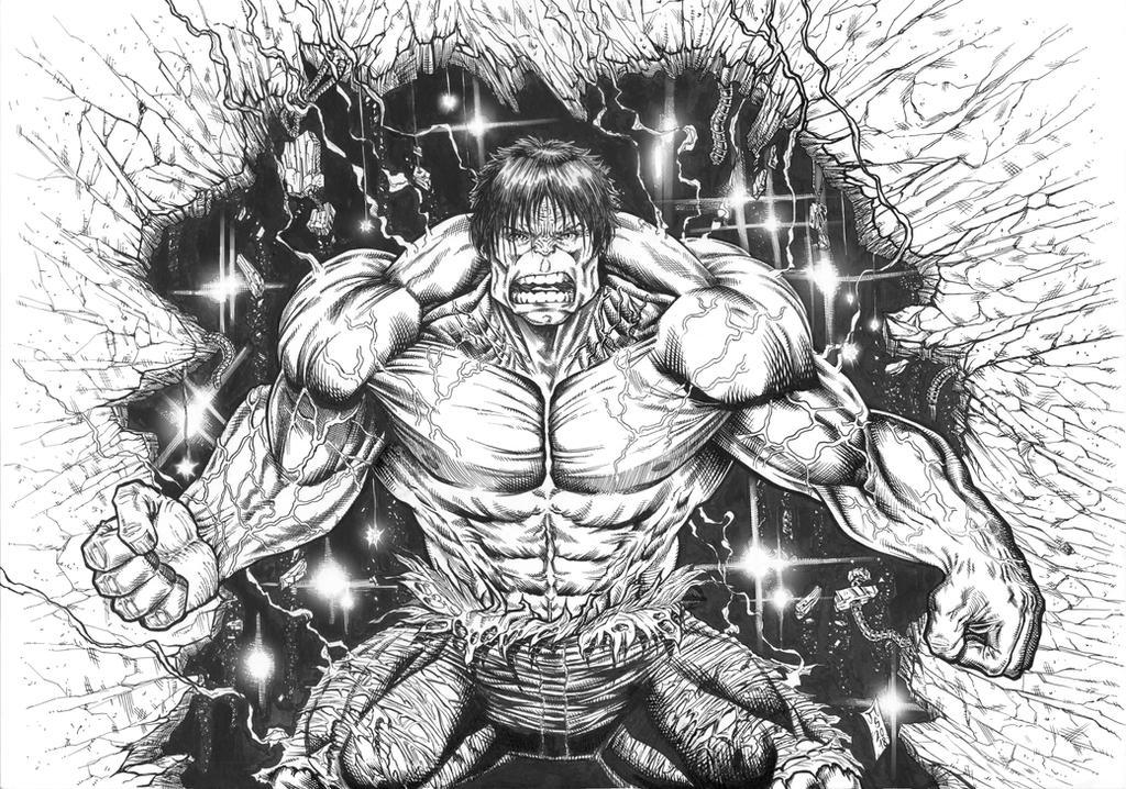 Hulk 2018 INKS by barfast