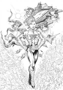 Captain Marvel 2018 commission