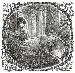 Sleeping Wolf by HanaKaeru