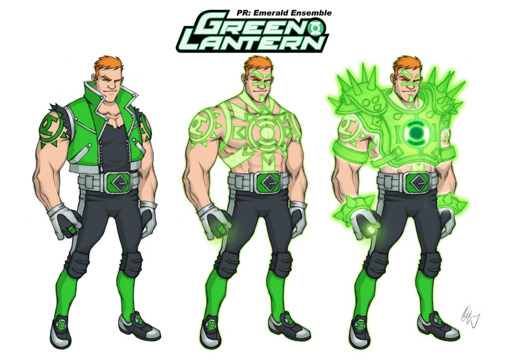 Green Lantern Redesign 3 Guy Gardner by Grailee