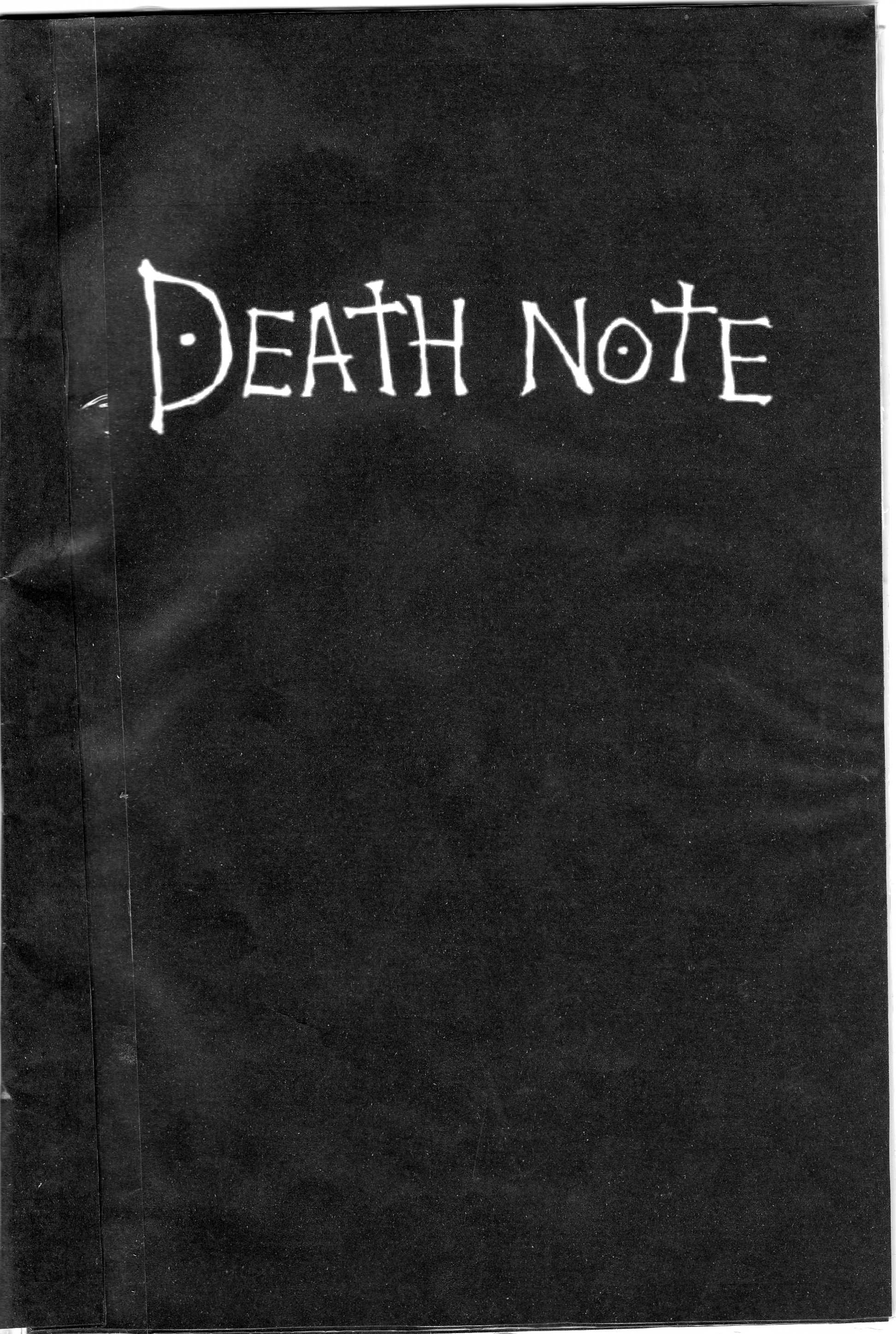 how to write death note